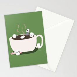 Marshmallow Hot Tub Stationery Cards