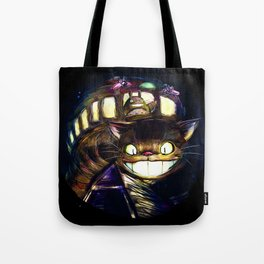 Cat Bus is In Your Town! Miyazaki Tribute Digital Fan Painting Tote Bag