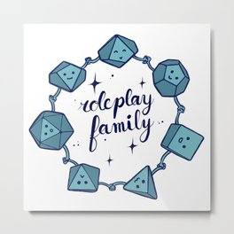 Roleplay family Metal Print