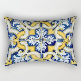 Portuguese blue tile Rectangular Pillow