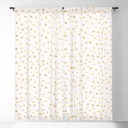 Golden Dots White Blackout Curtain
