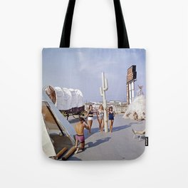 Ranch House Motel in the 1960's. North Wildwood, New Jersey Tote Bag