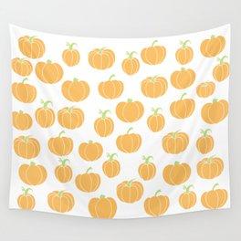 Pumpkins Galore - A Pumpkin Patch Pattern  Wall Tapestry