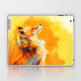 Blissful Light - Fox portrait Laptop & iPad Skin