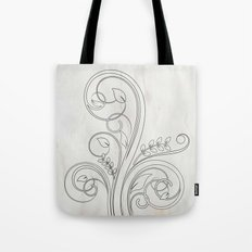 Sketchy Abstract Floral Tote Bag