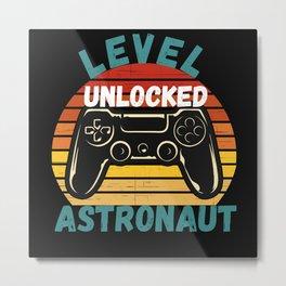 Level Unlocked Astronaut Metal Print