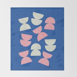 Abstract shapes 2 (Minimalism artwork) Throw Blanket