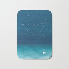 Capricorn zodiac constellation Bath Mat