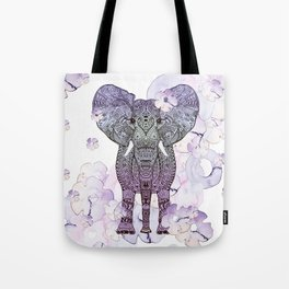 FLOWER SHOWER ELEPHANT Tote Bag
