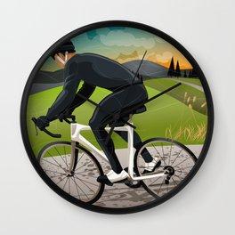 Road Cyclist Wall Clock