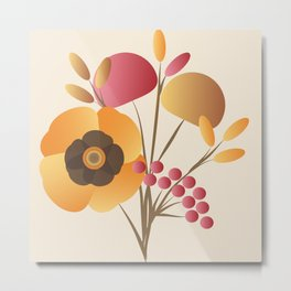 Memorable Florals Metal Print