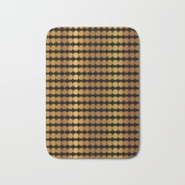 Gold Copper Geometric Stripes Vector Pattern Hand Drawn Bath Mat