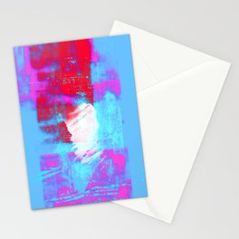 abstract blue pink Stationery Cards