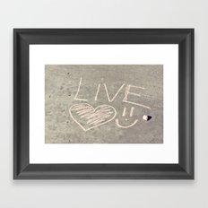 Live Love and Smile Often Framed Art Print