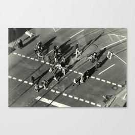 """March over intersection"" Canvas Print"