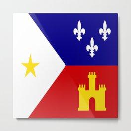 Acadiana Flag Metal Print