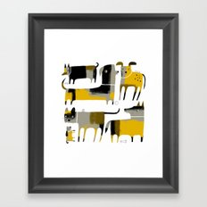 PATCHWORK DOGS Framed Art Print