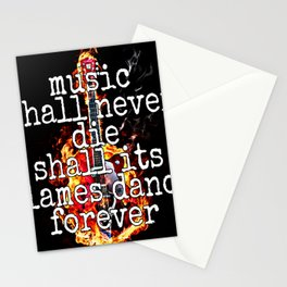 Music Lives On Stationery Cards