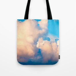 Fluffy Cumulus Clouds In The Summer Evening Tote Bag