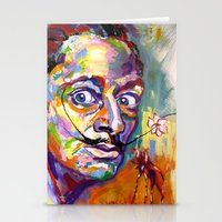 salvador dali Stationery Cards featuring salvador dali by yossikotler