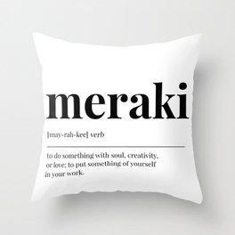 Meraki Throw Pillow