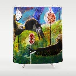 Kites Soaring Over Hills Shower Curtain