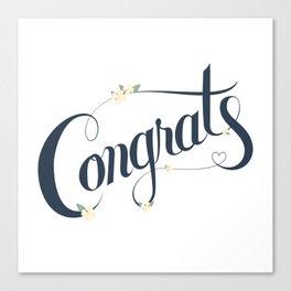 Congrats! Canvas Print