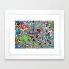 Videogame City V2.0 Framed Art Print