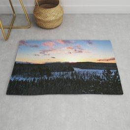Algonquin Winter Sunset Rug