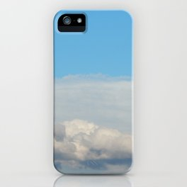 Texture of sky with clouds, cloudy weather background iPhone Case