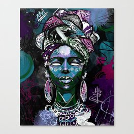 AFRICAN-WOMAN-ART Canvas Print