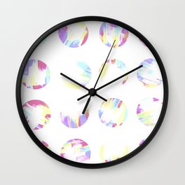 Pastell Dots Wall Clock