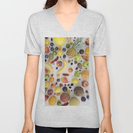 Collection of summer fruits Unisex V-Neck
