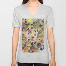 Collection of summer fruits Unisex V-Neck