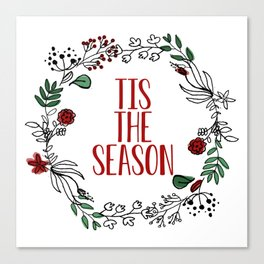 'Tis The Season Wreath Canvas Print