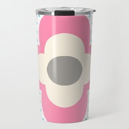 Decorative background in Nordic style in pink and light blue colors Travel Mug