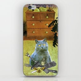 I had to get my own dinner handcut collage iPhone Skin