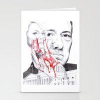 house of cards Stationery Cards featuring House of Cards by 13 Styx
