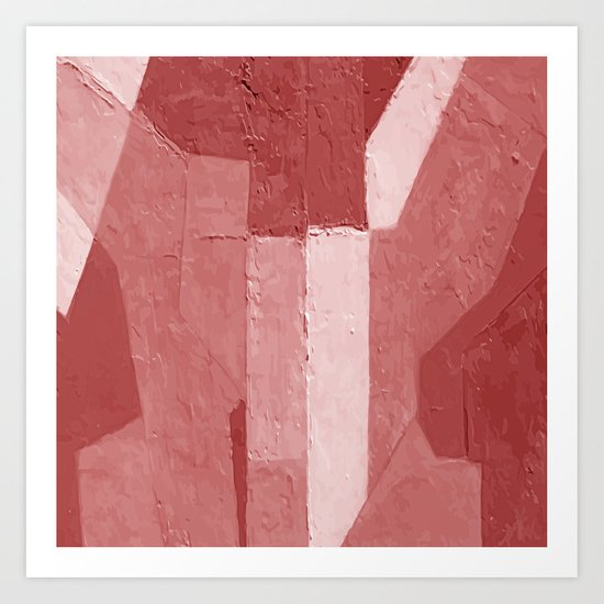 Minimal Red Art Print