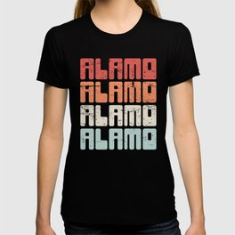 Retro 70s ALAMO Texas Text T-shirt