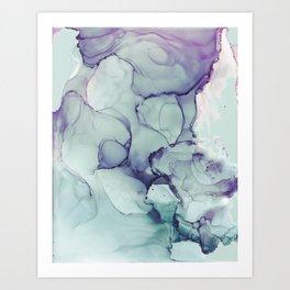 Soft Blue Mist Art Print