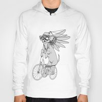 steam punk Hoodies featuring Steam Punk Chihuahua by Rebecca Pocai