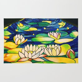 River of Lotus Blossoms Rug