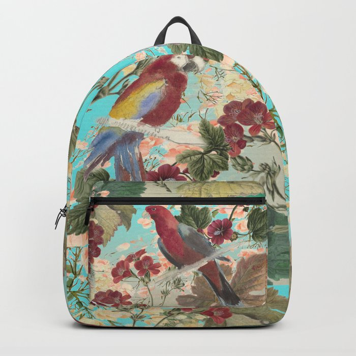 Parrots and Flora Backpack