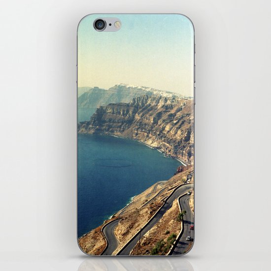 The insane roads of Santorini iPhone & iPod Skin