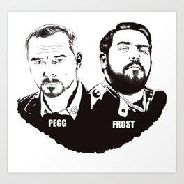 Simon Pegg & Nick Frost Art Print