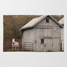 Farm with Barn and Horse Rug