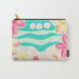 Plumeria ocean view Carry-All Pouch