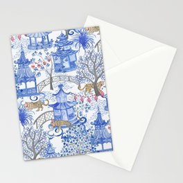 Party Leopards in the Pagoda Forest Stationery Cards