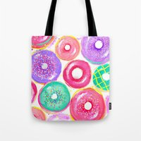 donuts Tote Bags featuring Donuts by Sara Berrenson